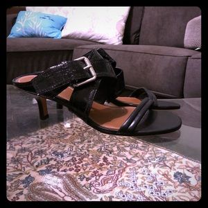 NEW Pliner DJP strappy kitten heel leather sandals